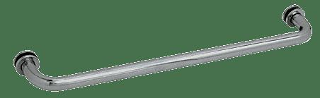 "CRL Polished Nickel 26"" BM Series Tubular Single-Sided Towel Bar CRL BM26PN"