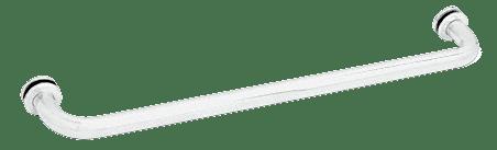 "CRL White 26"" BM Series Tubular Single-Sided Towel Bar CRL BM26W"