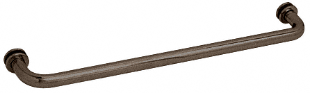 """CRL Oil Rubbed Bronze 27"""" BM Series Tubular Single-Sided Towel Bar CRL BM270RB"""
