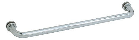 27 inch Brushed Satin Chrome (BM Series) Tubular Single-Sided Towel Bar - CRL BM27BSC