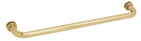 27 inch Satin Brass (BM Series) Tubular Single-Sided Towel Bar - CRL BM27SB