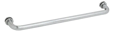 27 inch Satin Chrome (BM Series) Tubular Single-Sided Towel Bar - CRL BM27SC