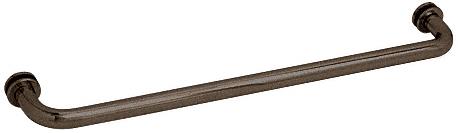 """CRL Oil Rubbed Bronze 28"""" BM Series Tubular Single-Sided Towel Bar CRL BM280RB"""