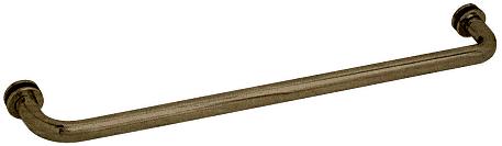 "CRL Antique Brass 28"" BM Series Tubular Single-Sided Towel Bar CRL BM28ABR"