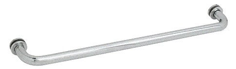 28 inch Satin Chrome (BM Series) Tubular Single-Sided Towel Bar - CRL BM28SC