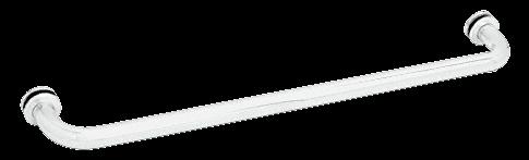 "CRL White 28"" BM Series Tubular Single-Sided Towel Bar CRL BM28W"
