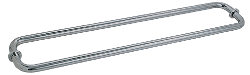 "CRL Brushed Nickel 30"" BM Series Back-to-Back Tubular Towel Bars With Metal Washers CRL BM30X30BN"