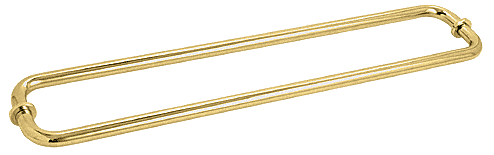"CRL Polished Brass 30"" BM Series Back-to-Back Tubular Towel Bars With Metal Washers CRL BM30X30BR"