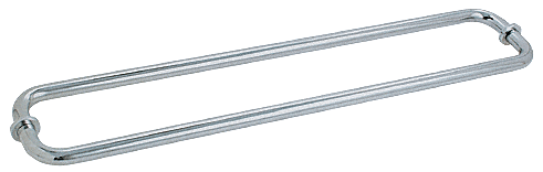 "CRL Brushed Satin Chrome 30"" BM Series Back-to-Back Tubular Towel Bars With Metal Washers CRL BM30X30BSC"