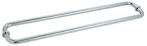 "CRL Polished Chrome 30"" BM Series Back-to-Back Tubular Towel Bars With Metal Washers CRL BM30X30CH"