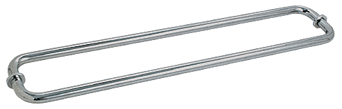 "CRL Polished Nickel 30"" BM Series Back-to-Back Tubular Towel Bars With Metal Washers CRL BM30X30PN"