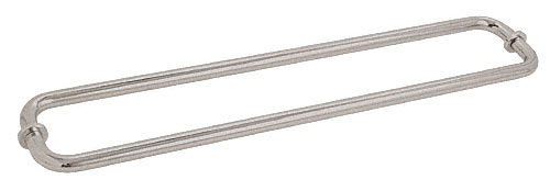"CRL Satin Nickel 30"" BM Series Back-to-Back Tubular Towel Bars With Metal Washers CRL BM30X30SN"