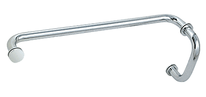 """CRL Polished Chrome 6"""" Pull Handle and 18"""" Towel Bar BM Series Combination With Metal Washers CRL BM6X18CH"""