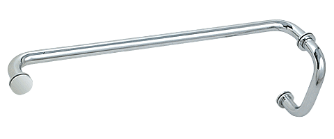 """CRL Polished Chrome 6"""" Pull Handle and 24"""" Towel Bar BM Series Combination With Metal Washers CRL BM6X24CH"""