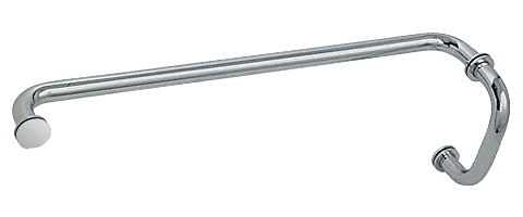 """CRL Polished Nickel 6"""" Pull Handle and 24"""" Towel Bar BM Series Combination With Metal Washers CRL BM6X24PN"""