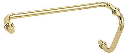 "CRL Gold Plated 8"" Pull Handle and 18"" Towel Bar BM Series Combination With Metal Washers CRL BM8X18GP"