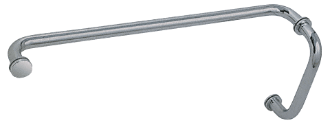 """CRL Brushed Nickel 8"""" Pull Handle and 24"""" Towel Bar BM Series Combination With Metal Washers CRL BM8X24BN"""