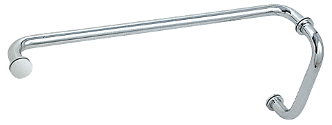 """CRL Polished Chrome 8"""" Pull Handle and 24"""" Towel Bar BM Series Combination With Metal Washers CRL BM8X24CH"""