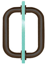8 inch Oil Rubbed Bronze BM Series Tubular Back-To-Back Pull Handle - CRL BM8X8ORB