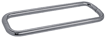 "CRL Brushed Nickel 12"" BM Series Back-to-Back Towel Bar Without Metal Washers CRL BMNW12X12BN"