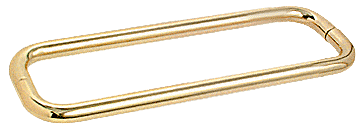 "CRL Polished Brass 12"" BM Series Back-to-Back Towel Bar Without Metal Washers CRL BMNW12X12BR"