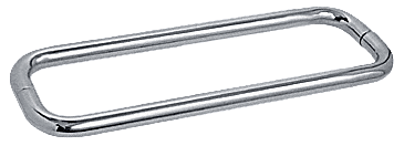 "CRL Polished Nickel 12"" BM Series Back-to-Back Towel Bar Without Metal Washers CRL BMNW12X12PN"