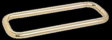 "CRL Satin Brass 12"" BM Series Back-to-Back Towel Bar Without Metal Washers CRL BMNW12X12SB"