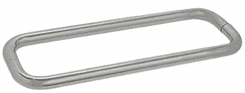 "CRL Satin Nickel 12"" BM Series Back-to-Back Towel Bar Without Metal Washers CRL BMNW12X12SN"