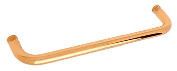 18 inch Gold Plated (BM Series) Single-Sided Towel Bar without Metal Washers - CRL BMNW18GP