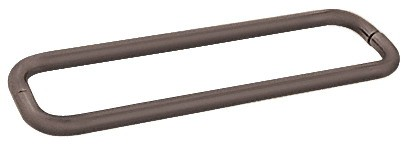 18 inch Oil Rubbed Bronze (BM Series) Back-to-Back Tubular Handle without Metal Washers - CRL BMNW18X18ORB