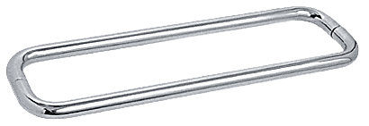 """CRL Polished Chrome 18"""" BM Series Back-to-Back Towel Bar Without Metal Washers CRL BMNW18X18CH"""