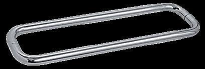 "CRL Polished Nickel 18"" BM Series Back-to-Back Towel Bar Without Metal Washers CRL BMNW18X18PN"