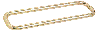 "CRL Satin Brass 18"" BM Series Back-to-Back Towel Bar Without Metal Washers CRL BMNW18X18SB"