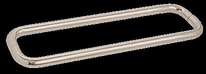 """CRL Satin Nickel 18"""" BM Series Back-to-Back Towel Bar Without Metal Washers CRL BMNW18X18SN"""