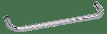"CRL Brushed Nickel 22"" BM Series Single-Sided Towel Bar Without Metal Washers CRL BMNW22BN"