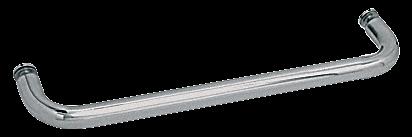 "CRL Polished Nickel 22"" BM Series Single-Sided Towel Bar Without Metal Washers CRL BMNW22PN"