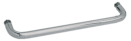 "CRL Polished Nickel 24"" BM Series Single-Sided Towel Bar Without Metal Washers CRL BMNW24PN"