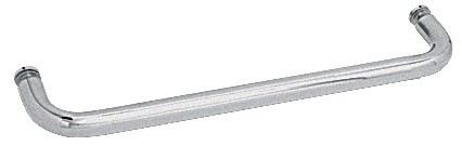 24 inch Satin Chrome (BM Series) Single-Sided Towel Bar without Metal Washers - CRL BMNW24SC