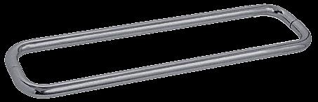 "CRL Brushed Nickel 24"" BM Series Back-to-Back Towel Bar Without Metal Washers CRL BMNW24X24BN"
