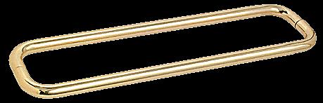 "CRL Polished Brass 24"" BM Series Back-to-Back Towel Bar Without Metal Washers CRL BMNW24X24BR"
