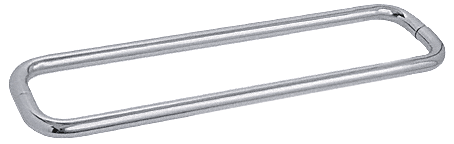 """CRL Brushed Satin Chrome 24"""" BM Series Back-to-Back Towel Bar Without Metal Washers CRL BMNW24X24BSC"""