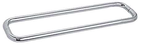 """CRL Polished Chrome 24"""" BM Series Back-to-Back Towel Bar Without Metal Washers CRL BMNW24X24CH"""