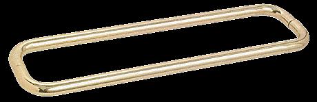 "CRL Satin Brass 24"" BM Series Back-to-Back Towel Bar Without Metal Washers CRL BMNW24X24SB"