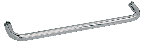 "CRL Polished Nickel 28"" BM Series Single-Sided Towel Bar Without Metal Washers CRL BMNW28PN"