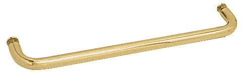 28 inch Satin Brass (BM Series) Single-Sided Towel Bar without Metal Washers - CRL BMNW28SB
