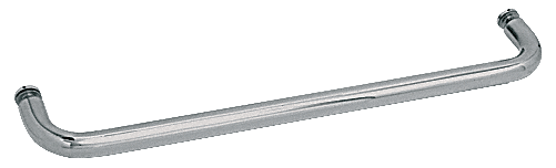 "CRL Polished Nickel 30"" BM Series Single-Sided Towel Bar Without Metal Washers CRL BMNW30PN"