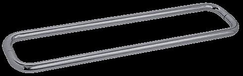 "CRL Brushed Nickel 30"" BM Series Back-to-Back Towel Bar Without Metal Washers CRL BMNW30X30BN"
