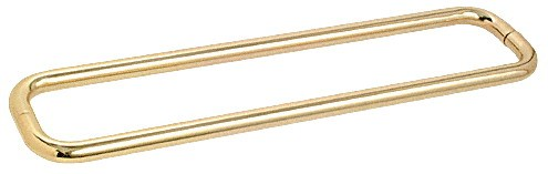 30 inch Brass (BM Series) Back-to-Back Tubular Handle without Metal Washers - CRL BMNW30X30BR