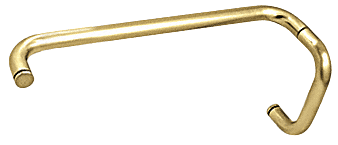 """CRL Polished Brass 6"""" Pull Handle and 12"""" Towel Bar BM Series Combination Without Metal Washers CRL BMNW6X12BR"""