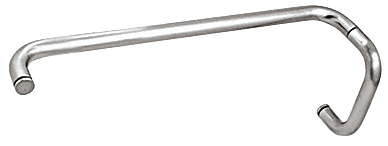 """CRL Polished Chrome 6"""" Pull Handle and 18"""" Towel Bar BM Series Combination Without Metal Washers CRL BMNW6X18CH"""